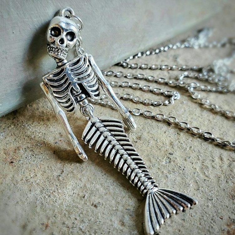 Fiji Mermaid Necklace, Gothic Jewelry