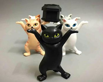 Funeral Cats, Toy Cats with Coffin, Gothic Gift ideas