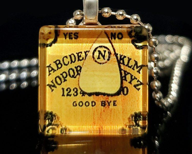 Ouija Board Necklace, Glow Ouija Pendant, Gothic Jewelry