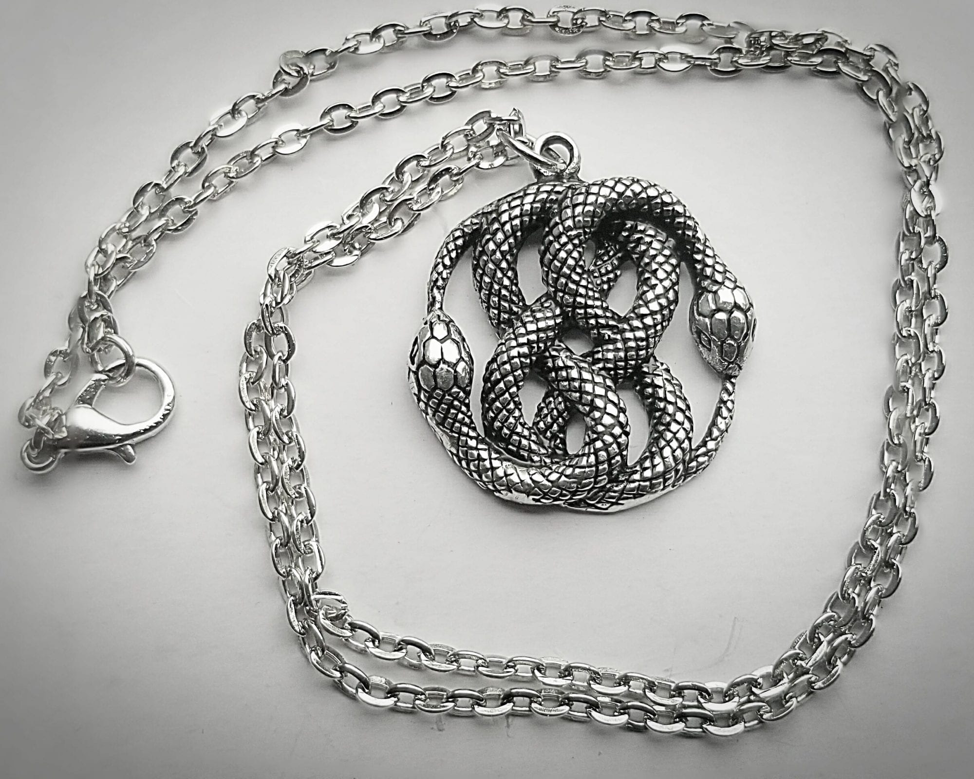 Ouroboros witchy necklace Snake necklace