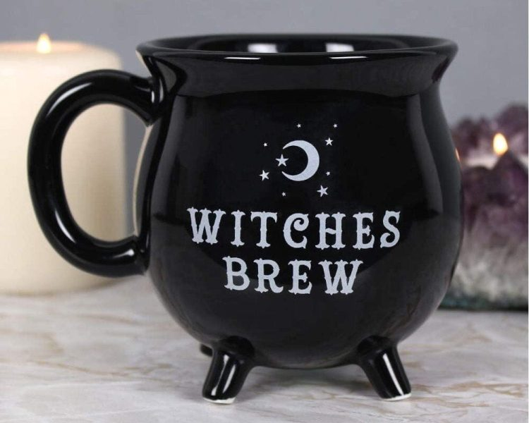 Black cauldron Witches Brew Coffee Mug, Witches Brew Mug, Gifts For Witches