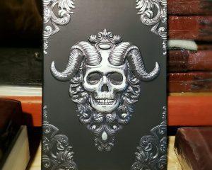 Horned Skull Journal, Book Of Shadows, Skull Sketchbook