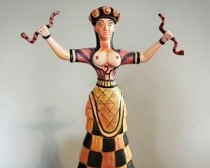Minoan Snake Goddess Statue, Cretan Snake Goddess Statue