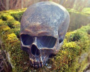 Antique Gold Skull, Gold Human Skull, Gothic Décor