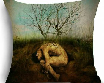 Gothic Décor, Gothic Throw Pillow, Rebirth Pillow
