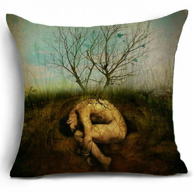 Gothic Décor, Gothic Throw Pillow, Rebirth Pillow