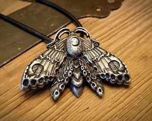 Luna Moth Necklace, Witch Jewelry, Gothic Jewelry