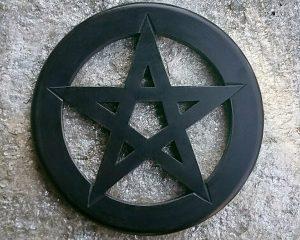 Occult Décor, Pentagram Wall Hanging, Pentagram Altar Tile