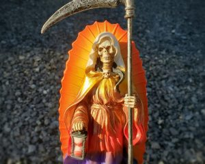 Santa Muerte Statue, Grim Reaper Statue, Gothic Décor