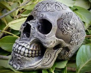 Aztec Skull, Carved Skull, Mexican Skull