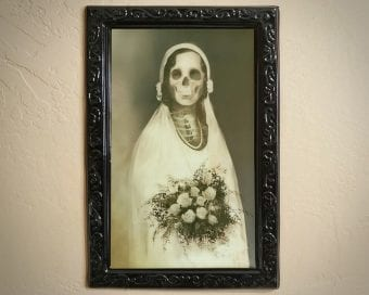 Scary Changing Photo, Ghost Bride, Lenticular Halloween Decor
