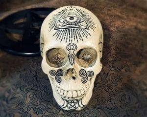 Witch Skull, Pagan Skull, Altar Skull