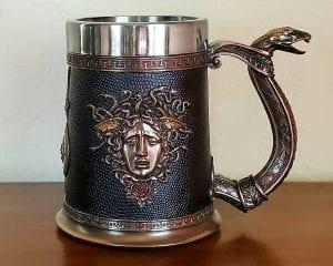 Medusa Beer Stein, Medusa Mug, Medusa Decor, Gothic Decor