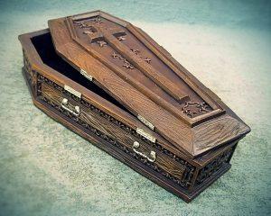 Coffin Jewelry Box, Coffin Box, Gothic Decor, Gothic Gifts