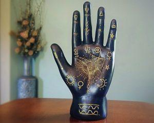 Palmistry Hand, Black Palmistry Hand, Occult Items, Oddities Curiosities