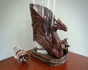 Dragon Decanter, Dragon Bottle Holder, Dragon Decor, Gothic Decor
