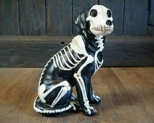 Gothic Decor, Dog Skeleton, Dog Skeleton Figurine