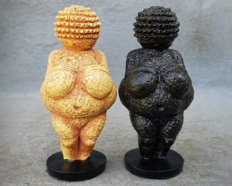 Fertility God Statue, Venus of Willendorf Statue, Black Venus of Willendorf