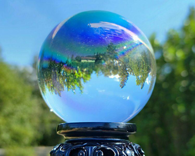 Aurora Crystal Ball, 80mm Crystal Ball, Rainbow Glass Ball