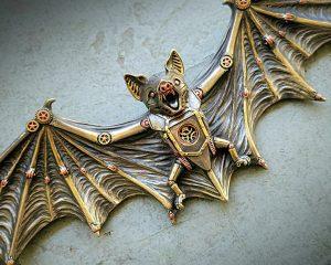 Bronze Bat Wall Plaque, Bat Wall Decor, Gothic Decor, Steampunk Decor